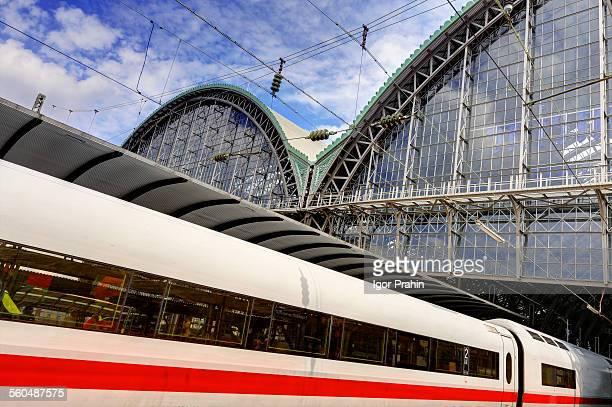 Train at Frankfurt (Main) Hauptbahnhof (Hbf)