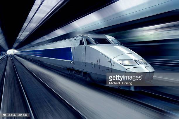 TGV train at speed (blurred motion)