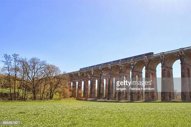 Train crossing the Balcombe Viaduct