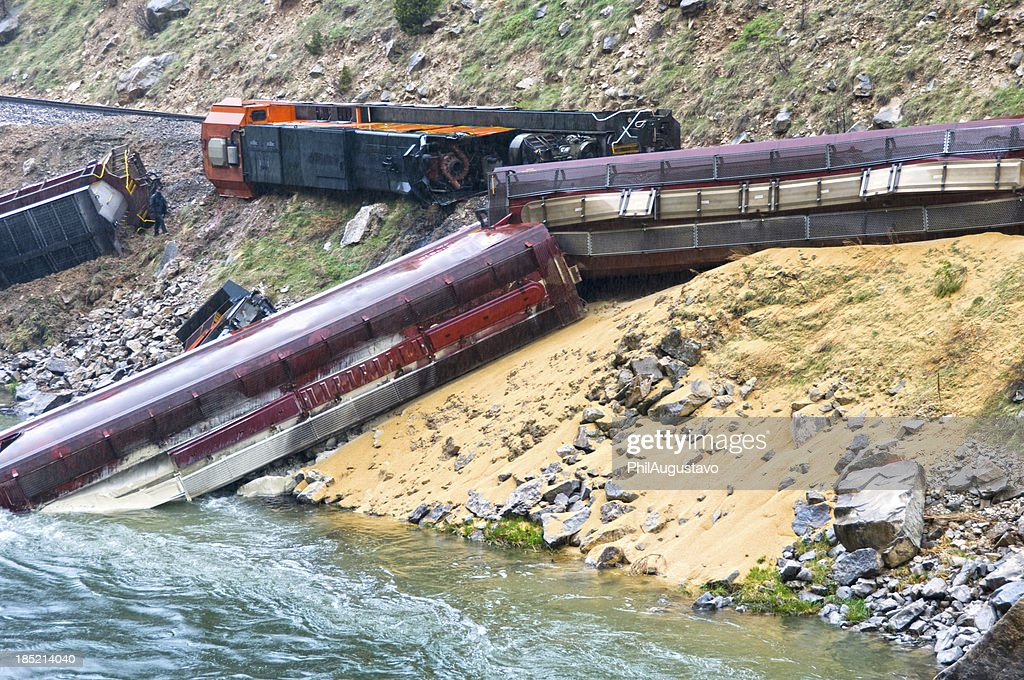Train derailed by landslide in Wyoming