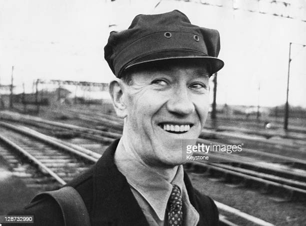 Train driver Jack Mills returns to work after 39 weeks of sick leave 12th May 1964 Mills was beaten with an axe handle during the 26 million pound...