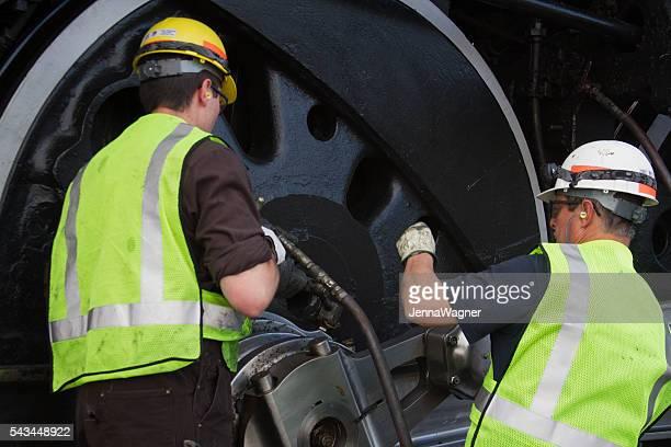 Train Engineers Working