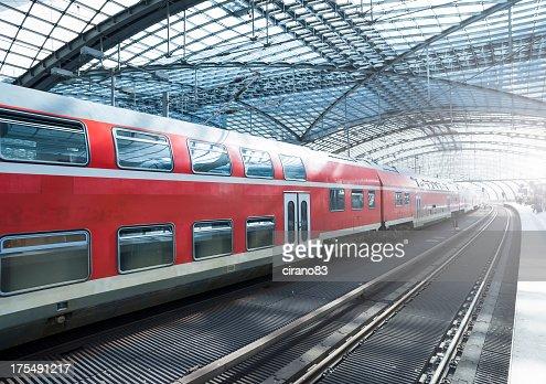 'Train in a modern station, Berlin'