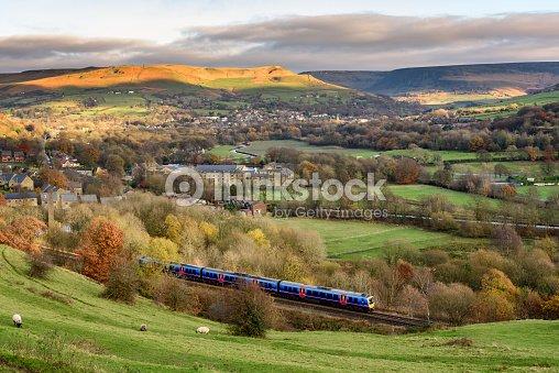 Train in English Countryside : Foto de stock
