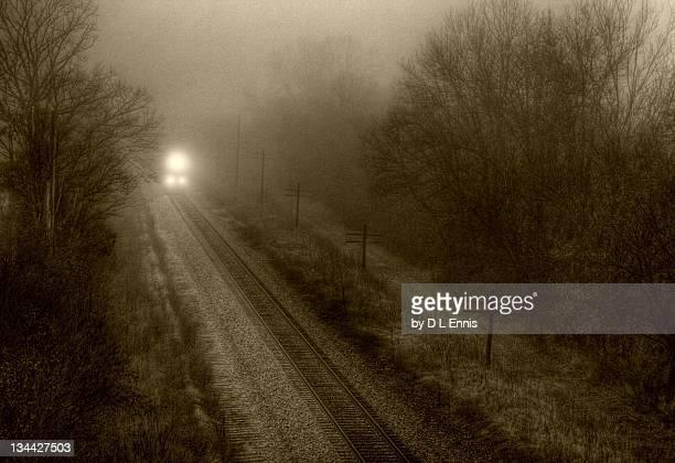 Train in fog