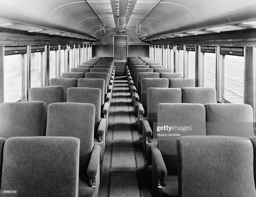 Train interior (B&W) : Stock Photo