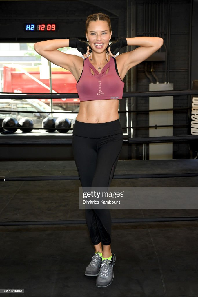 Train Like an Angel with Adriana Lima in Victoria's Secret Angel Max Sport Bra at DogPound on October 3, 2017 in New York City.