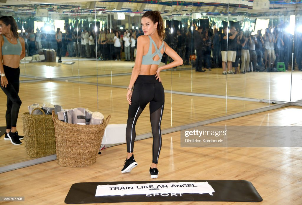 Train Like an Angel with Alessandra Ambrosio in Victoria's Secret Angel Max Sport Bra at Tracy Anderson on October 10, 2017 in New York City.