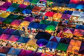 Colorful market in Ratchadapisek Bangkok