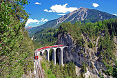 The Landwasser Viaduct is a single track limestone railway viaduct near Filisur in the canton of Graubünden, Switzerland. As part of the Albula line includes the structure  to the UNESCO World Heritag