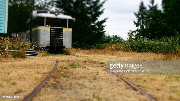 Train On A Railroad Track