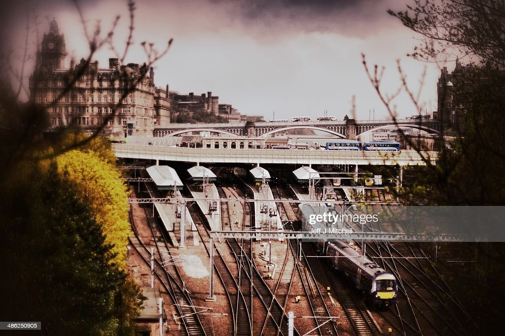 A train pulls out of Waverley Station on April 23, 2014 in Edinburgh, Scotland. A referendum on whether Scotland should be an independent country will take place on September 18, 2014.