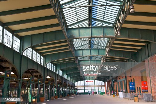 Train shed, Central Railroad of New Jersey (historical landmark), Liberty State Park, Jersey City, New Jersey
