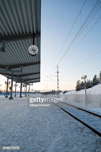 Train Station Platform : Stock Photo
