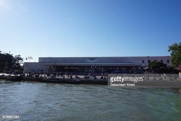 Train Station Venezia Santa Lucia, People, Canal Grande, Venice, Italy