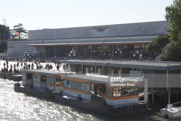 Train Station Venezia Santa Lucia, Waterbusstop Venice, Modernist Style, Italy