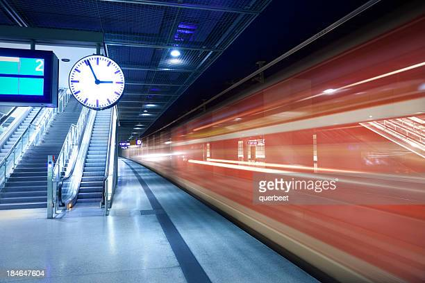 train station with a clock
