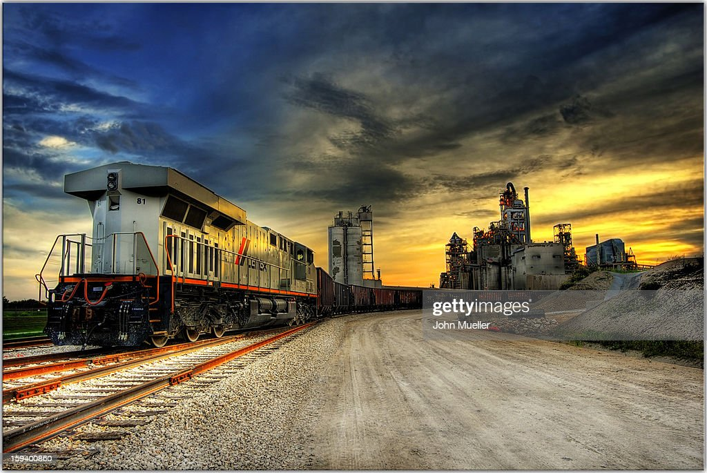 CONTENT] train, texas, factory, locomotive, rural, industrial, sunset, sunrise, dirt, middle-america, mid-west