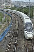 A CRH train that runs on the HarbinQiqihar HighSpeed Railway leaves Harbin Railway Station in North China's HeilongjiangJuly 222016China intends to...