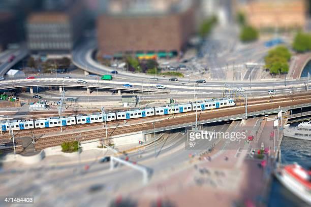 Train to Stockholm.  (Tilt shift)