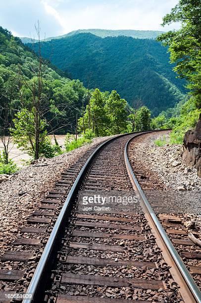 Train track in southern Appalachia