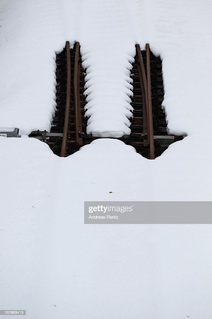Train tracks are covered with snow at the Westkreuz station of the Berlin S-Bahn commuter rail network on January 3, 2011 in Berlin, Germany. According to media reports out of the S-Bahn's 1,100 train cars only 426 are in service. The others, according to S-Bahn officials, are in repair due to damage caused by the early and harsh winter weather this year. The shortfall in operating trains has led to longer waits for commuters and, in some cases, cancelled service altogether. The Berlin S-Bahn, a subsidiary of the German state rail carrier Deutsche Bahn, has been unable to keep its full fleet of trains operational for the last two years.