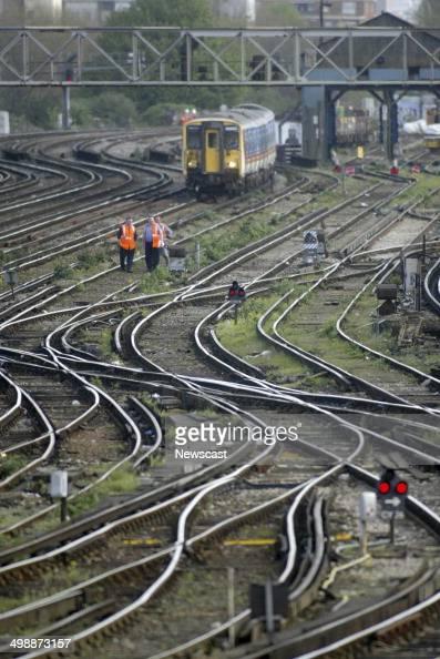 Train tracks at Clapham Junction London
