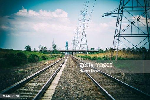 Train tracks : Stock Photo