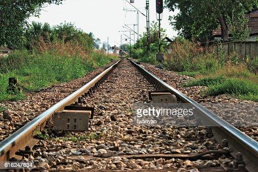 Pistas de tren  : Foto de stock