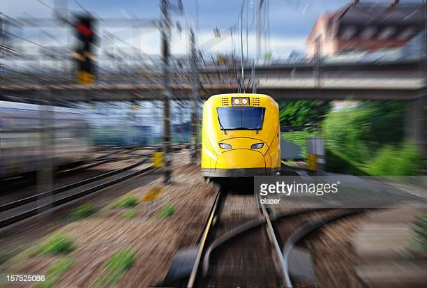 Train with blurred background