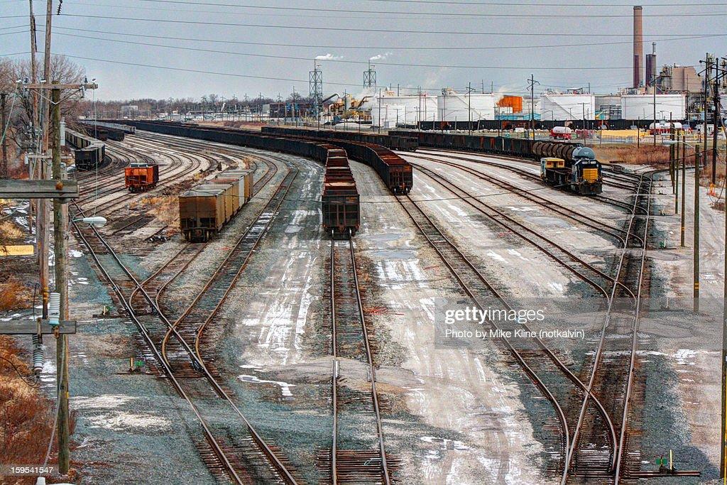 Train yard in Oregon Ohio - Merge