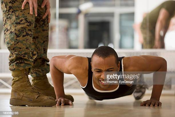 Trainee Doing Burpees at a Fitness Bootcamp