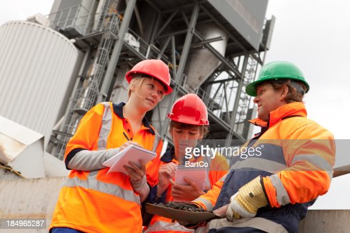 Trainee learning about industry