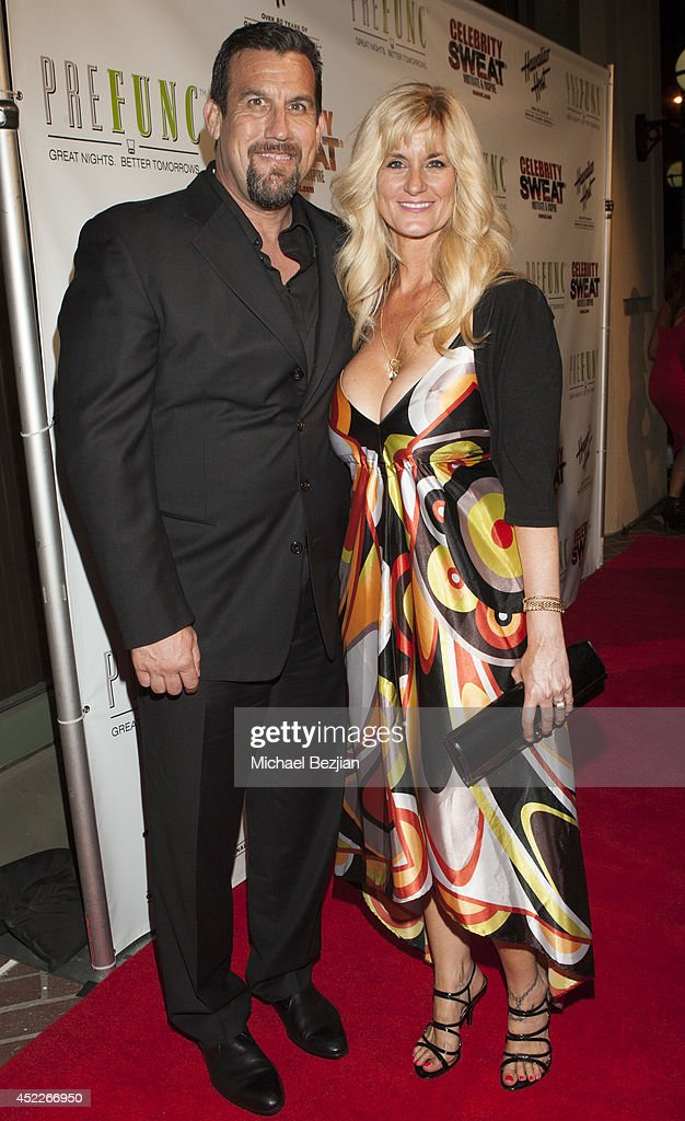 Trainer Big John McCarthy and wife Elaine attend PREFUNC At The Celebrity Sweat VIP Party at The Palm on July 16, 2014 in Los Angeles, California.