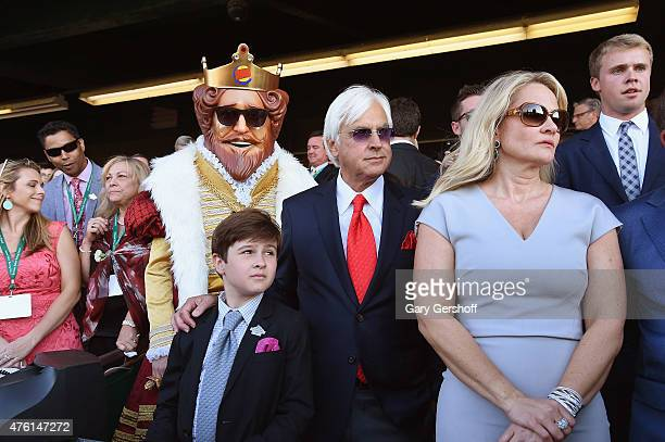 Trainer Bob Baffert and Burger King attend the 147th Belmont Stakes on June 6 2015 in Elmont City