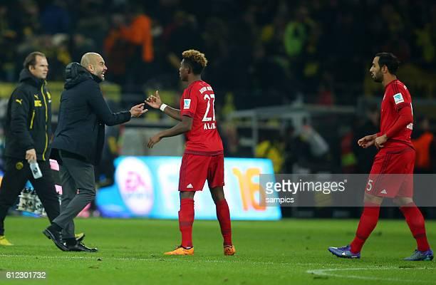 Trainer Coach Pep Josep Guardiola FC Bayern München Munich schreit Mehdi Benatia FC Bayern München nach dem Spiel an Borussia Dortmund BVB FC Bayern...