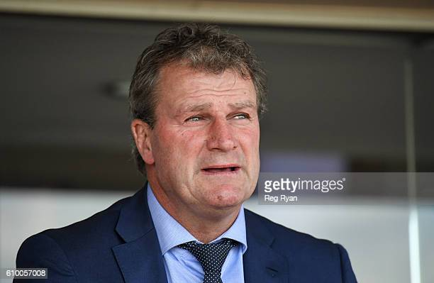 Trainer Darren Weir after Royal Rapture ridden by Ben Allen won Moniek Sambor Tile Importer Handicap at Caulfield Racecourse on September 24 2016 in...