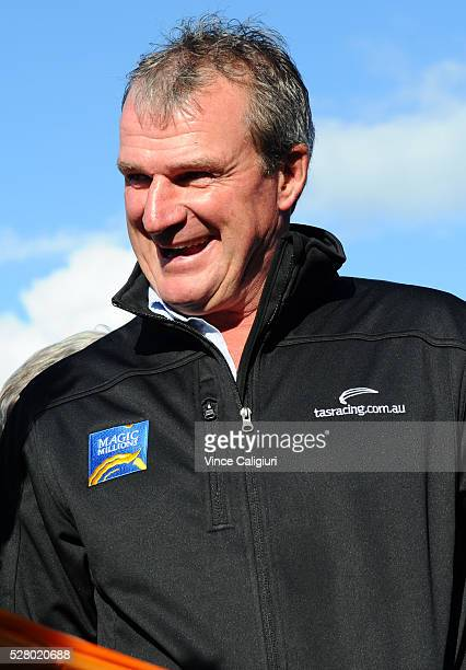Trainer Darren Weir smiles during Brierly Day at Warrnambool Race Club on May 4 2016 in Warrnambool Australia