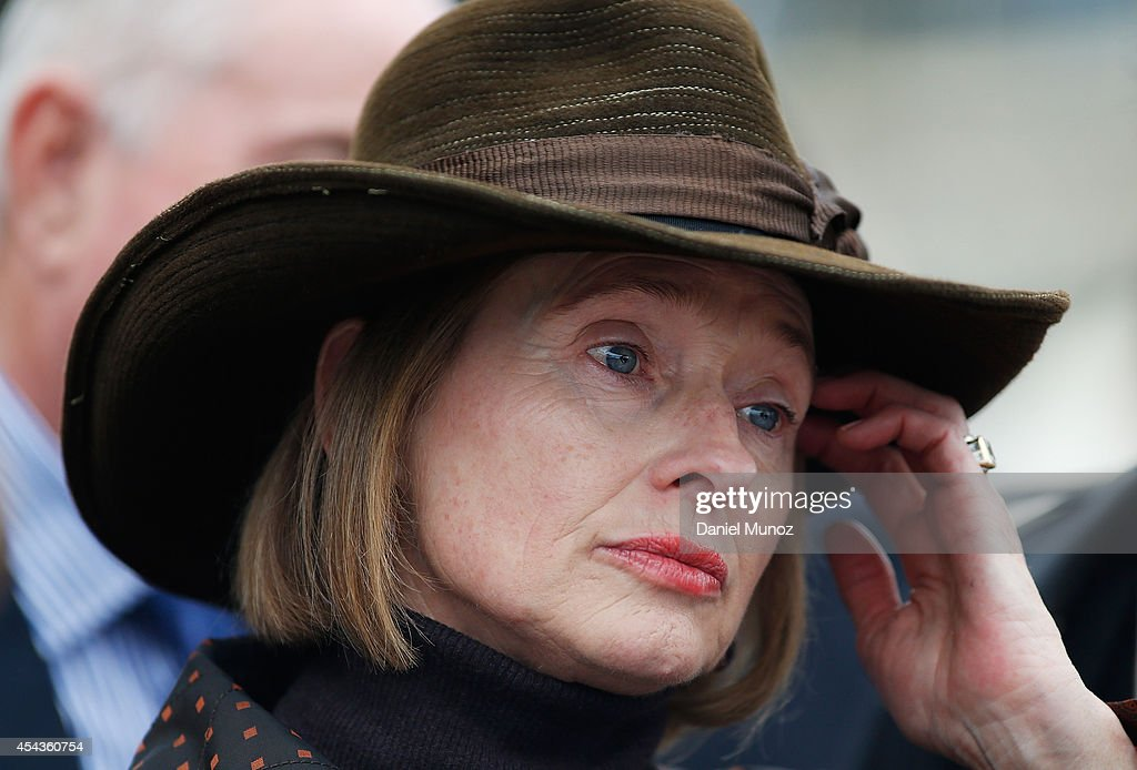 Trainer Gai Waterhouse looks on after Race 7 'Premier's Cup' during Sydney Racing at Rosehill Gardens on August 30, 2014 in Sydney, Australia.