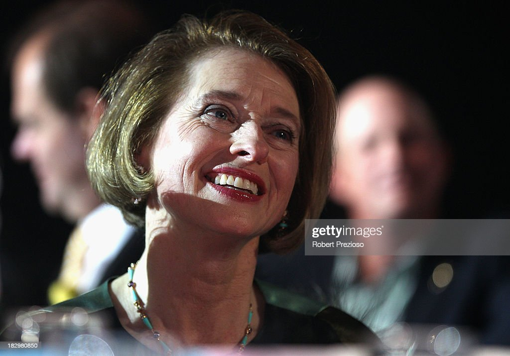 Trainer <a gi-track='captionPersonalityLinkClicked' href=/galleries/search?phrase=Gai+Waterhouse&family=editorial&specificpeople=239456 ng-click='$event.stopPropagation()'>Gai Waterhouse</a> looks on during the Australian Racehorse of the Year Awards at Peninsula on October 3, 2013 in Melbourne, Australia.