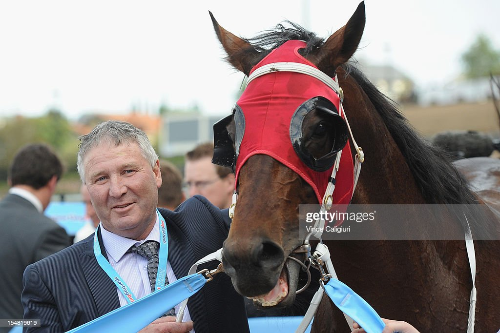 Trainer Gary Hennessy with Ocean Park after winning the Sportingbet Cox Plate during Cox Plate Day at Moonee Valley Racecourse on October 27, 2012 in Melbourne, Australia.