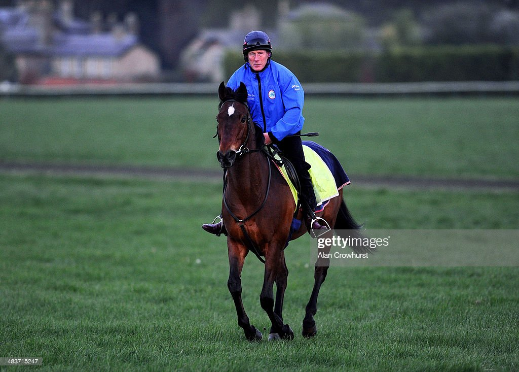 Trainer George Margarson on his hack on Newmarket Heath in Newmarket on April 10, 2014 in Lingfield, England.