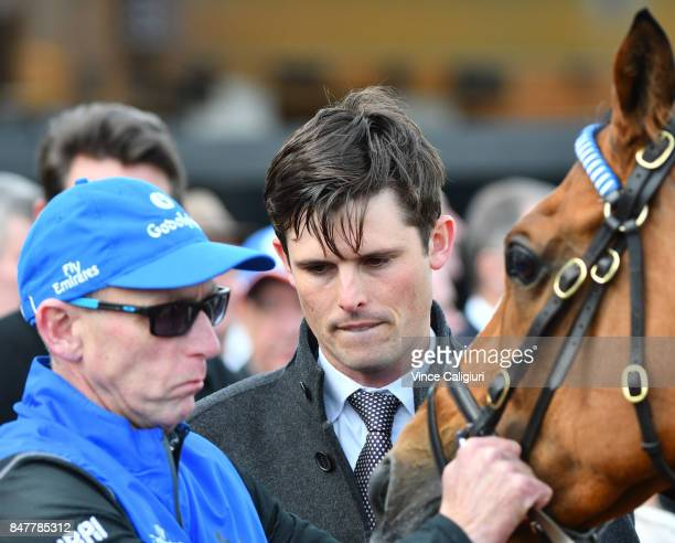 Trainer James Cummings is seen after Hartnell finishing 2nd in Race 7 PFD Food Services Makybe Diva Stakes during Melbourne Racing at Flemington...