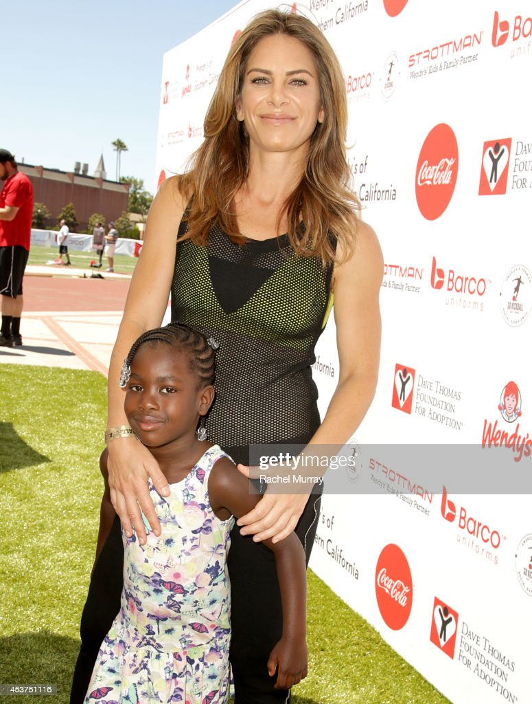 Trainer <a gi-track='captionPersonalityLinkClicked' href=/galleries/search?phrase=Jillian+Michaels&family=editorial&specificpeople=2303813 ng-click='$event.stopPropagation()'>Jillian Michaels</a> and her daughter Lukensia Michaels Rhoades attend Kickball For A Home - Celebrity Challenge presented by Dave Thomas Foundation For Adoption at USC on August 16, 2014 in Los Angeles, California.