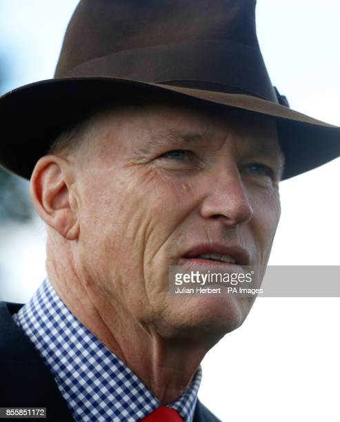 Trainer John Gosden before The Juddmonte Royal Lodge Stakes run during day three of the Cambridgeshire Meeting at Newmarket Racecourse PRESS...