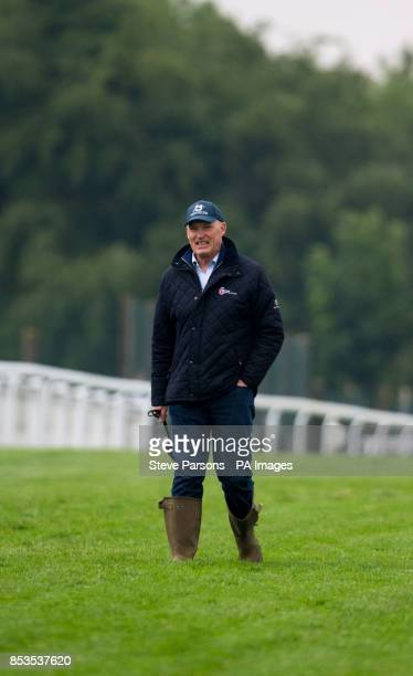 Trainer John Gosden during Breakfast with the Stars at Epsom Downs Racecourse Surrey