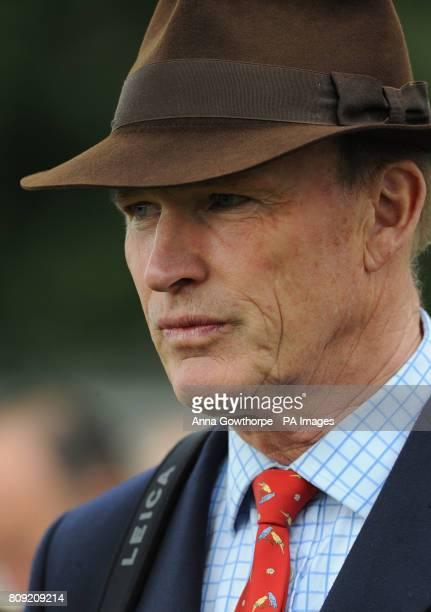 Trainer John Gosden in the parade ring during the Dante Festival at York Racecourse York