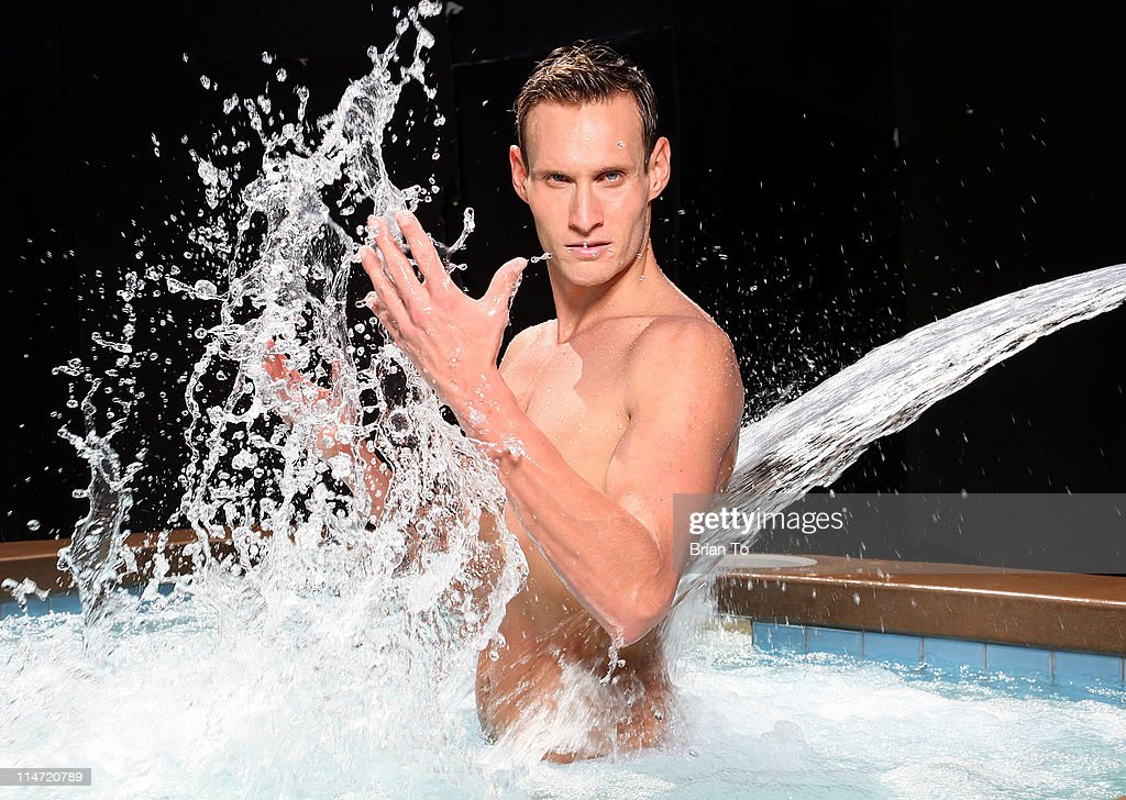 Trainer Luke Hines poses at private photo shoot on May 24, 2011 in Los Angeles, California.