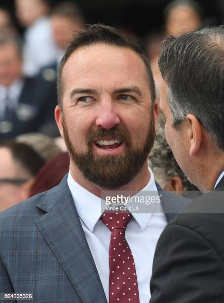 Trainer Nick Olive after Single Gaze finished runner up in Race 8 Caulfield Cup during Melbourne Racing on Caulfield Cup Day at Caulfield Racecourse...
