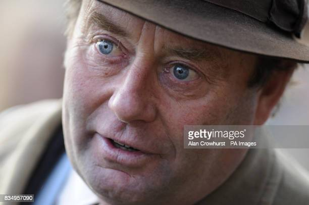 Trainer Nicky Henderson at Ascot Racecourse Berkshire